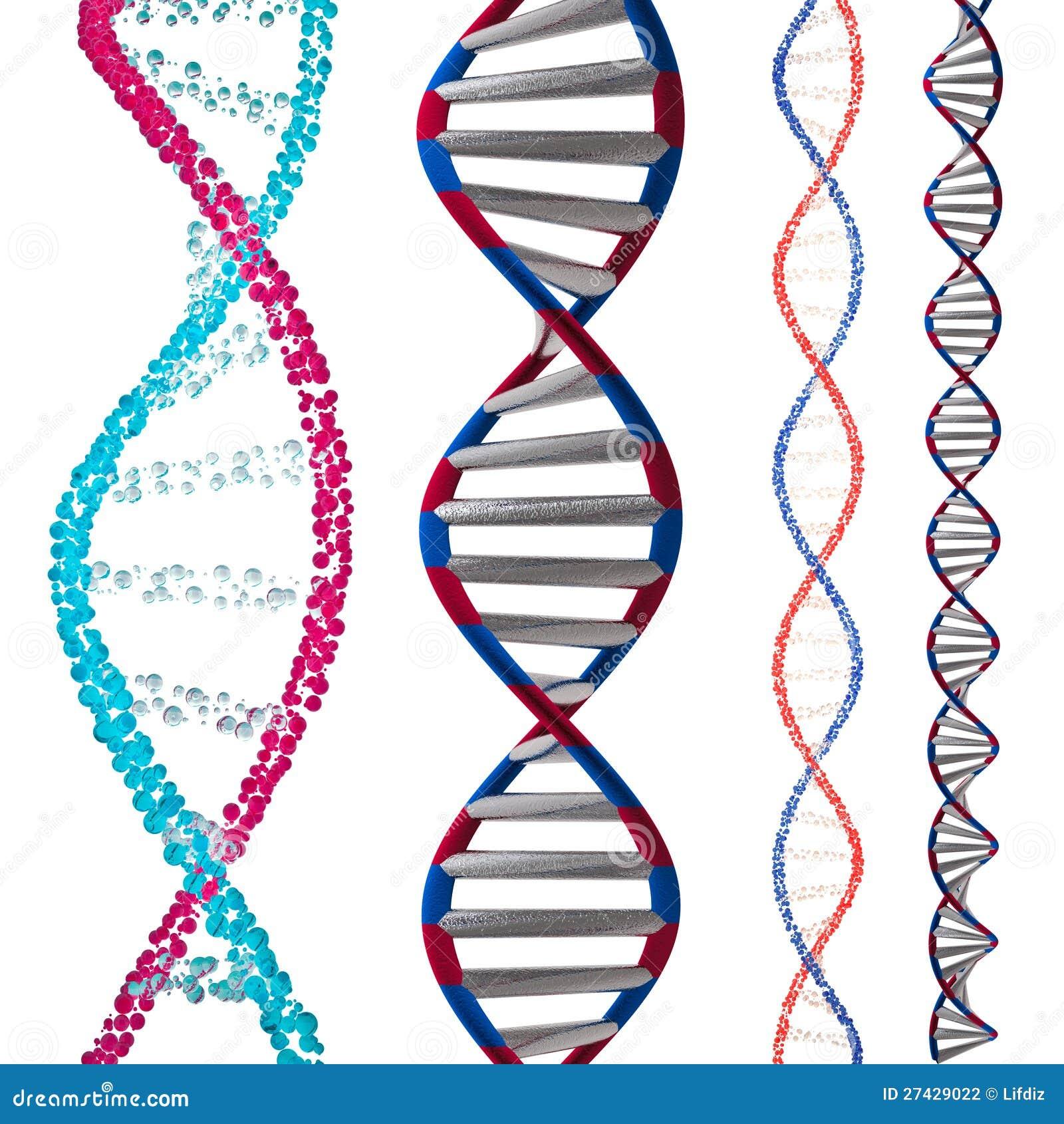 3d Model Of DNA Stock Illustration. Illustration Of Beads