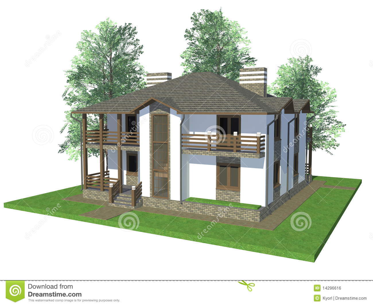 3d Model Home Royalty Free Stock Image Image 14296616