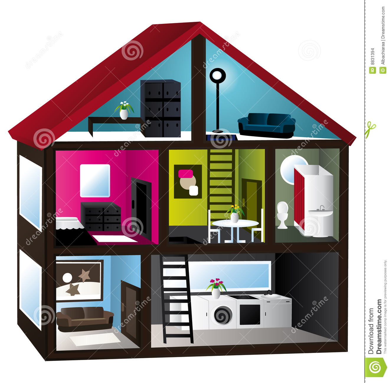 3d Model House Stock Images Image 8831394