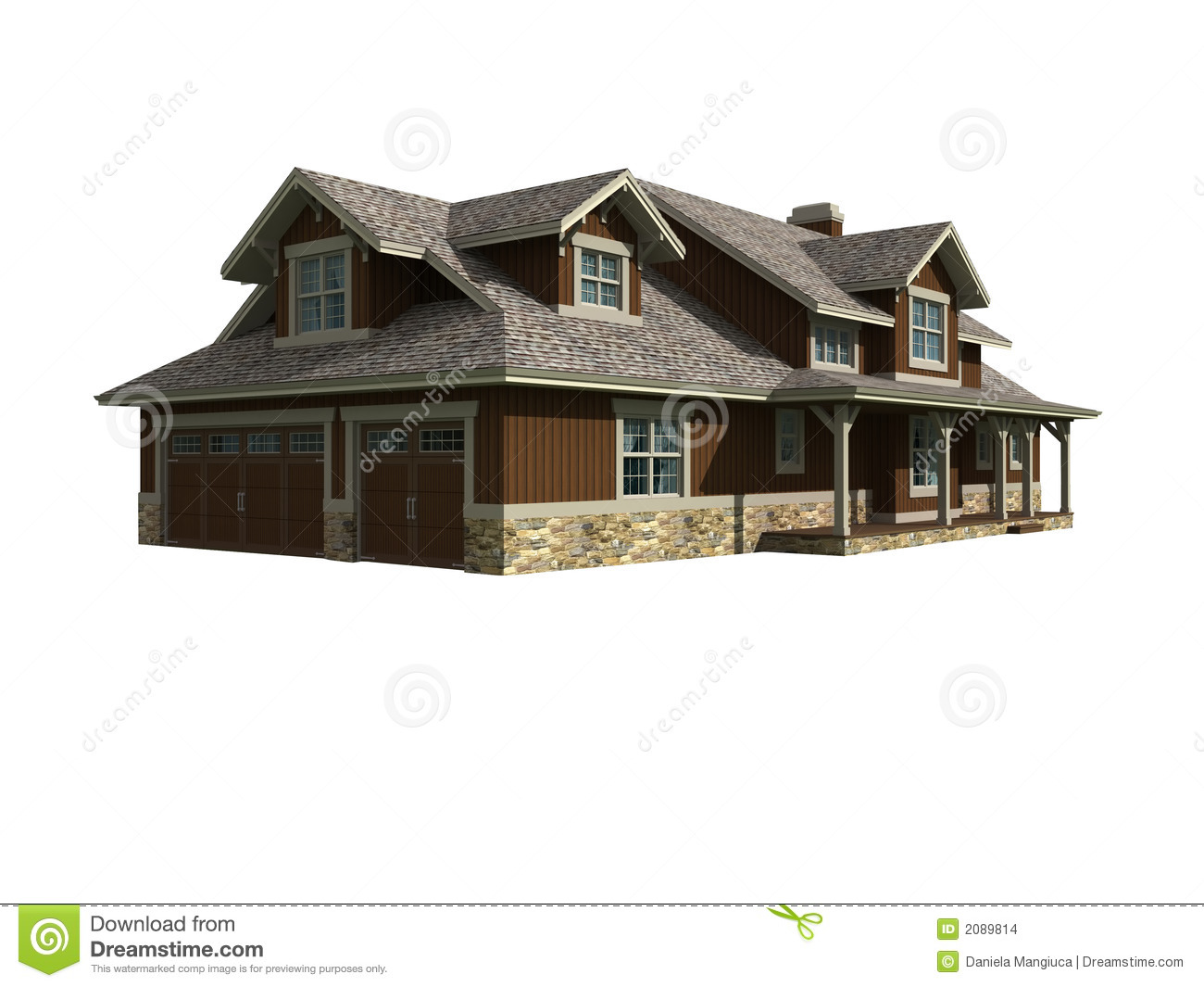 3d Model Of Ranch Home Stock Images Image 2089814