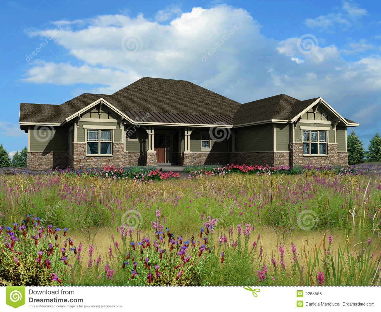 3d model of ranch house stock photo image of style - What is a ranch house ...