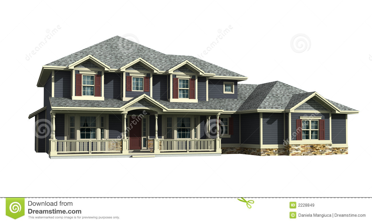 3d model of two level house royalty free stock images for Free 3d house models