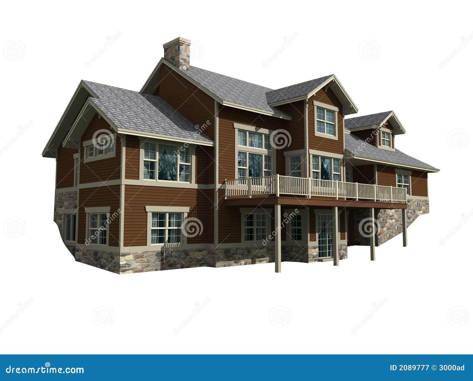 3d model van huis op twee niveaus royalty vrije stock fotografie afbeelding 2089777 - Model van huisarchitectuur ...
