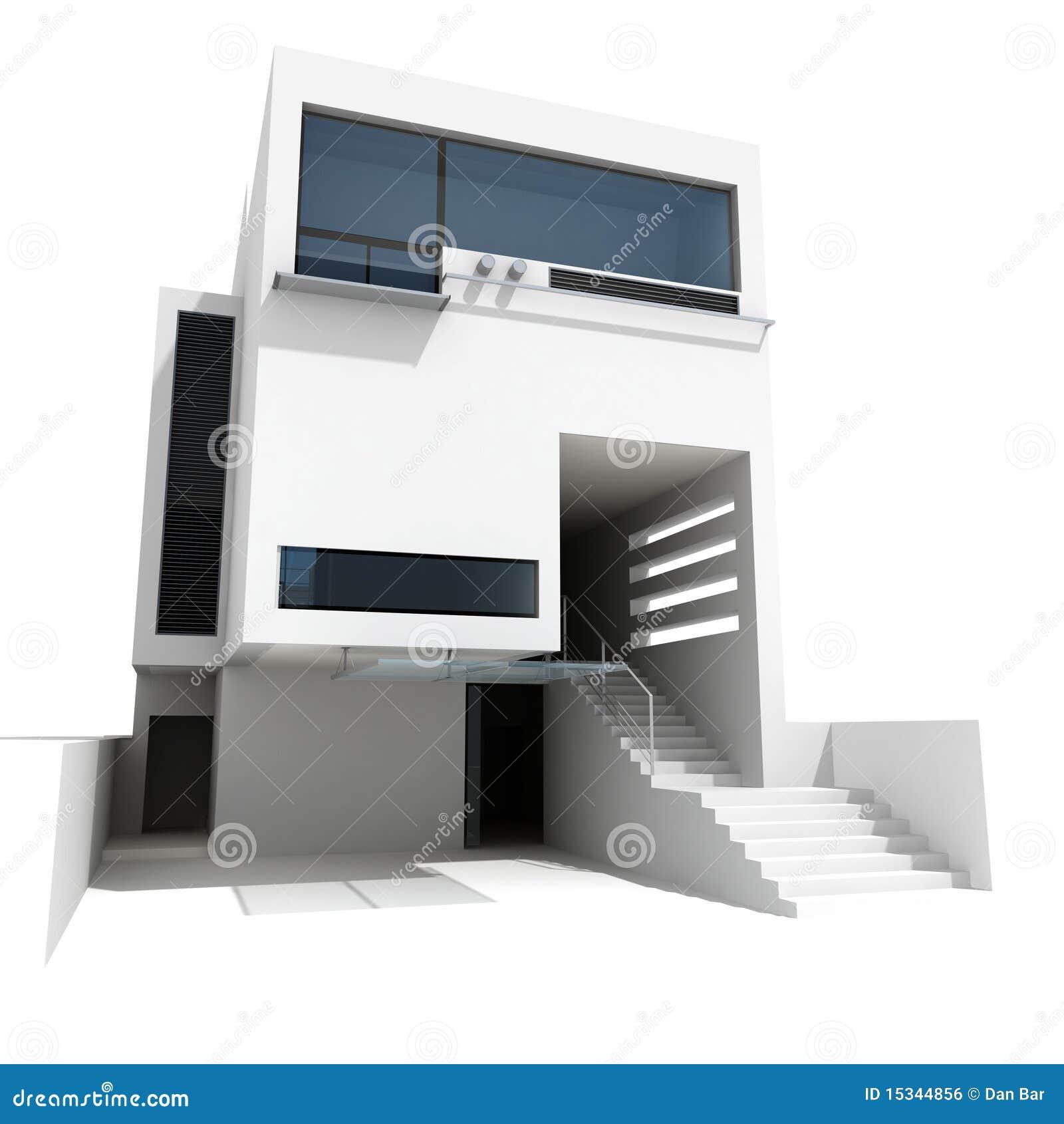 3d modern house stock illustration  Illustration of engineer - 15344856