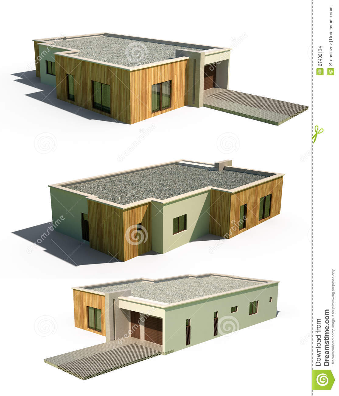 3d Home Design Deluxe 6 Free Download: 3d Modern House Facade Exterior Stock Illustration