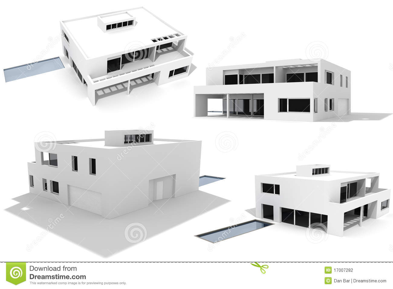 House isolated modern