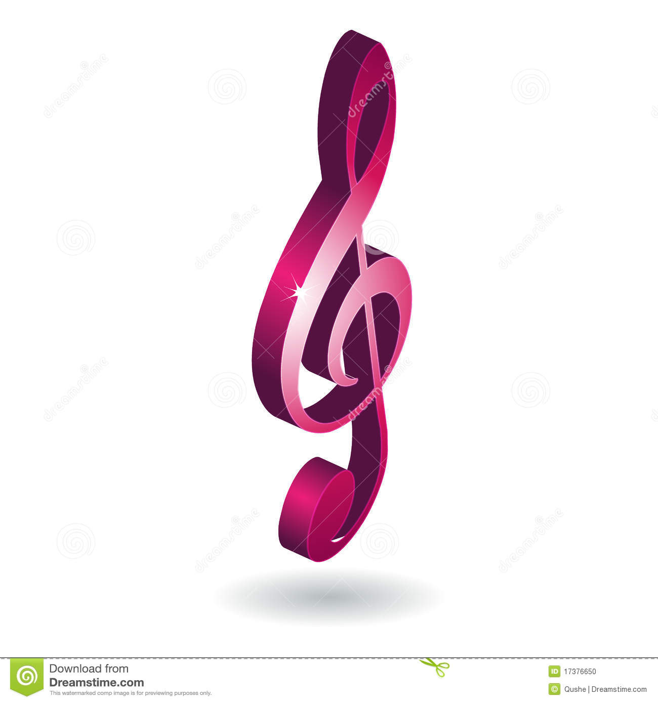 3D Music Note Symbol Stock Photo - Image: 17376650