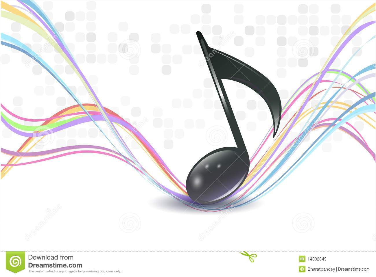 Color Notes Background 01 Vector Free Download: 3d Music Notes Stock Vector. Illustration Of Musical