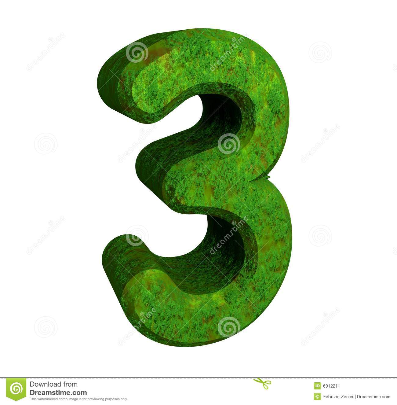 3d number 3 green stock illustration. Illustration of ...