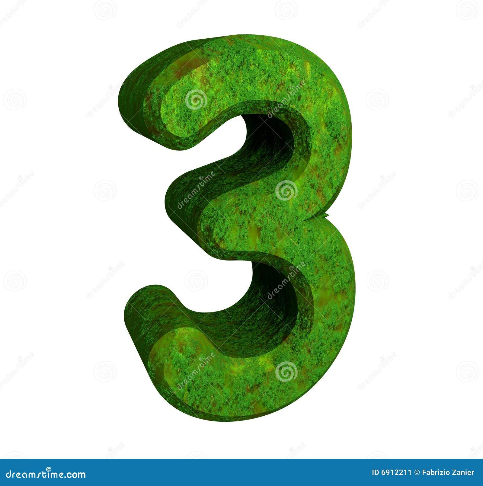 Amount of antioxidants in three green