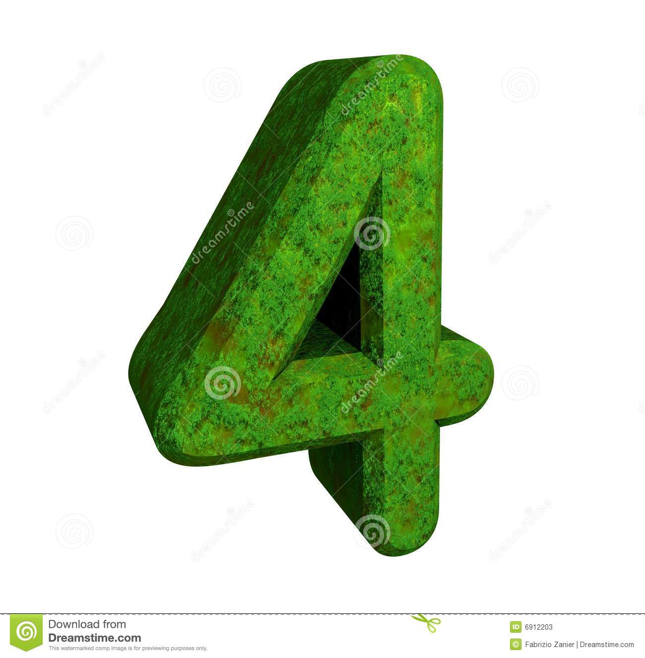 3d Number 4 Green Stock Photos - Image: 6912203
