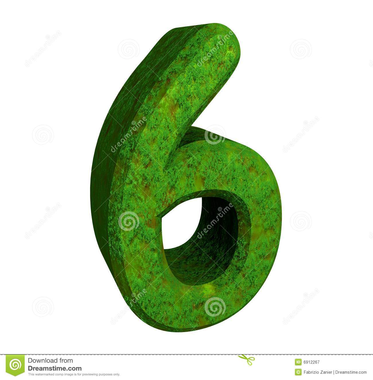 3d number 6 green stock illustration. Image of mathematics ...