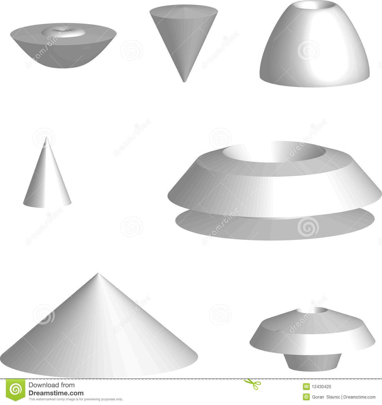 3d Objects Stock Photo Image 12430420