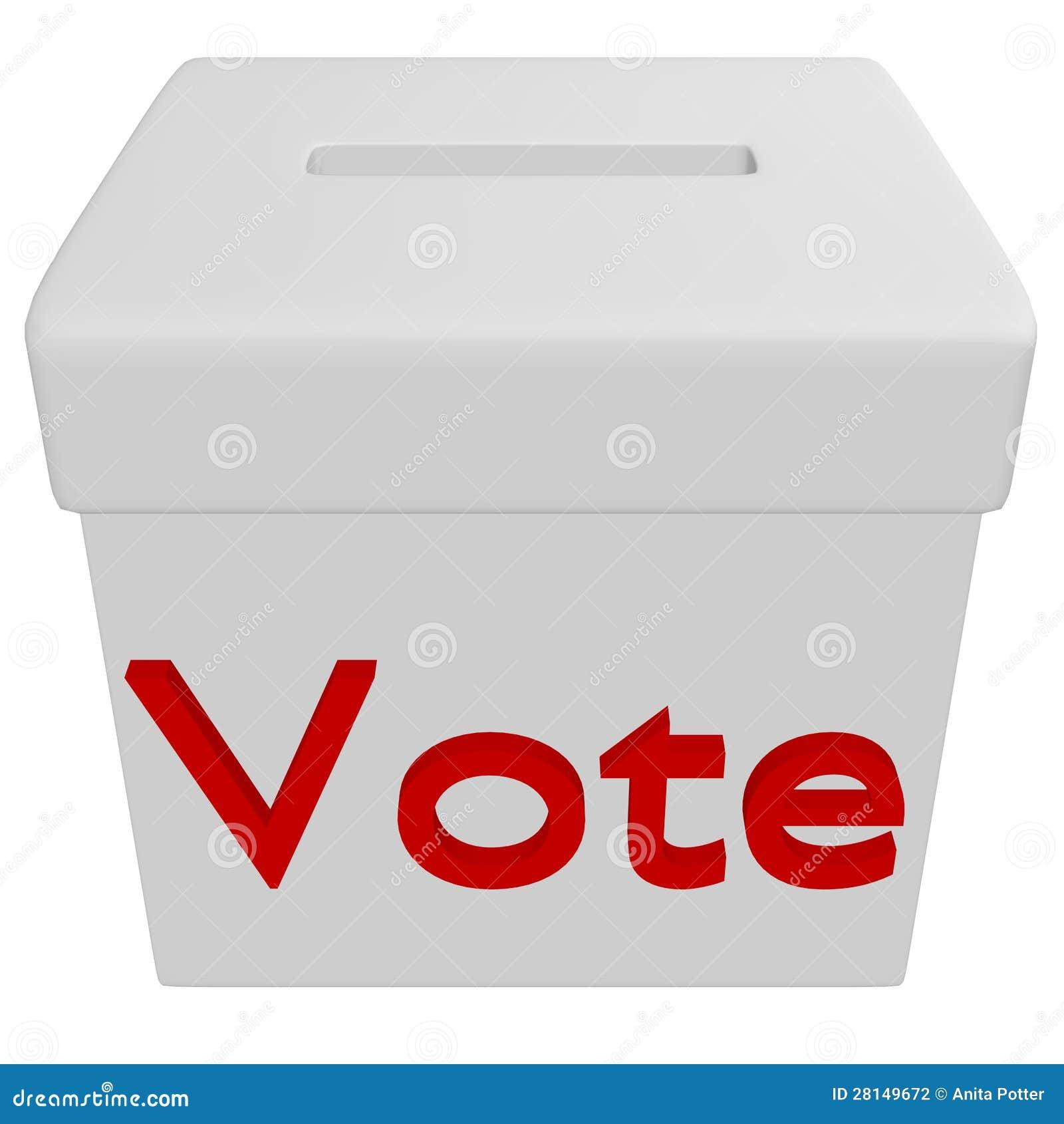 3d Odpłacają się Głosuje pudełko