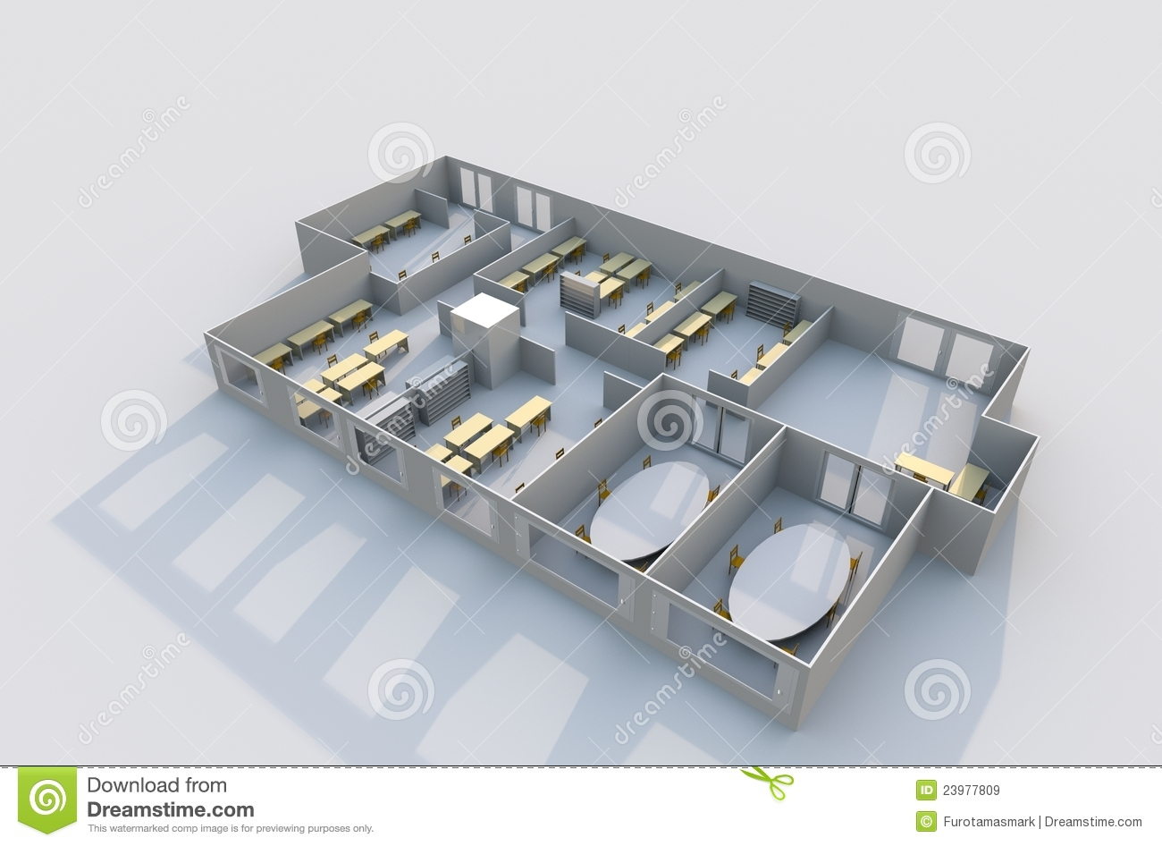 3d office plan stock illustration image of interior for Free 3d office planner