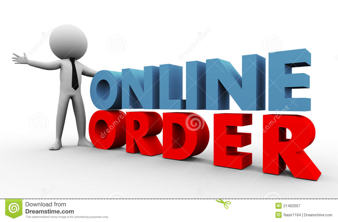 3d Online Order Royalty Free Stock Photography