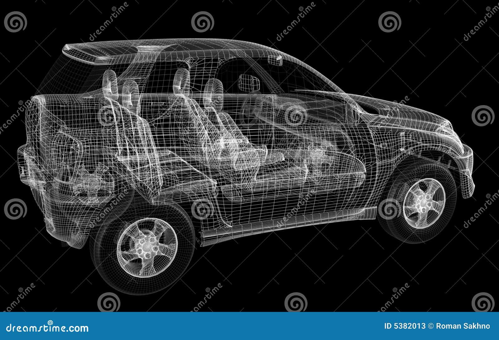 3d ontwerp van auto stock illustratie illustratie for Ontwerp 3d