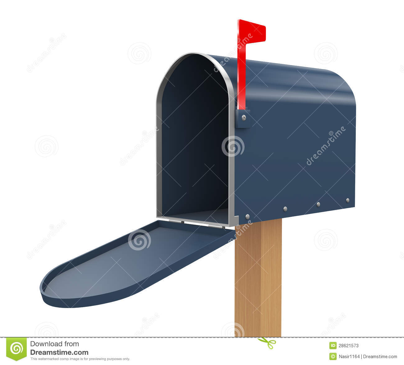 3d Open Mailbox Stock Photos - Image: 28621573