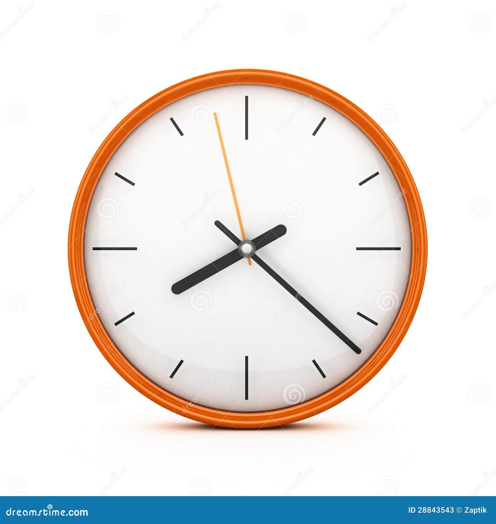 3D Orange Clock Stock Photos - Image: 28843543