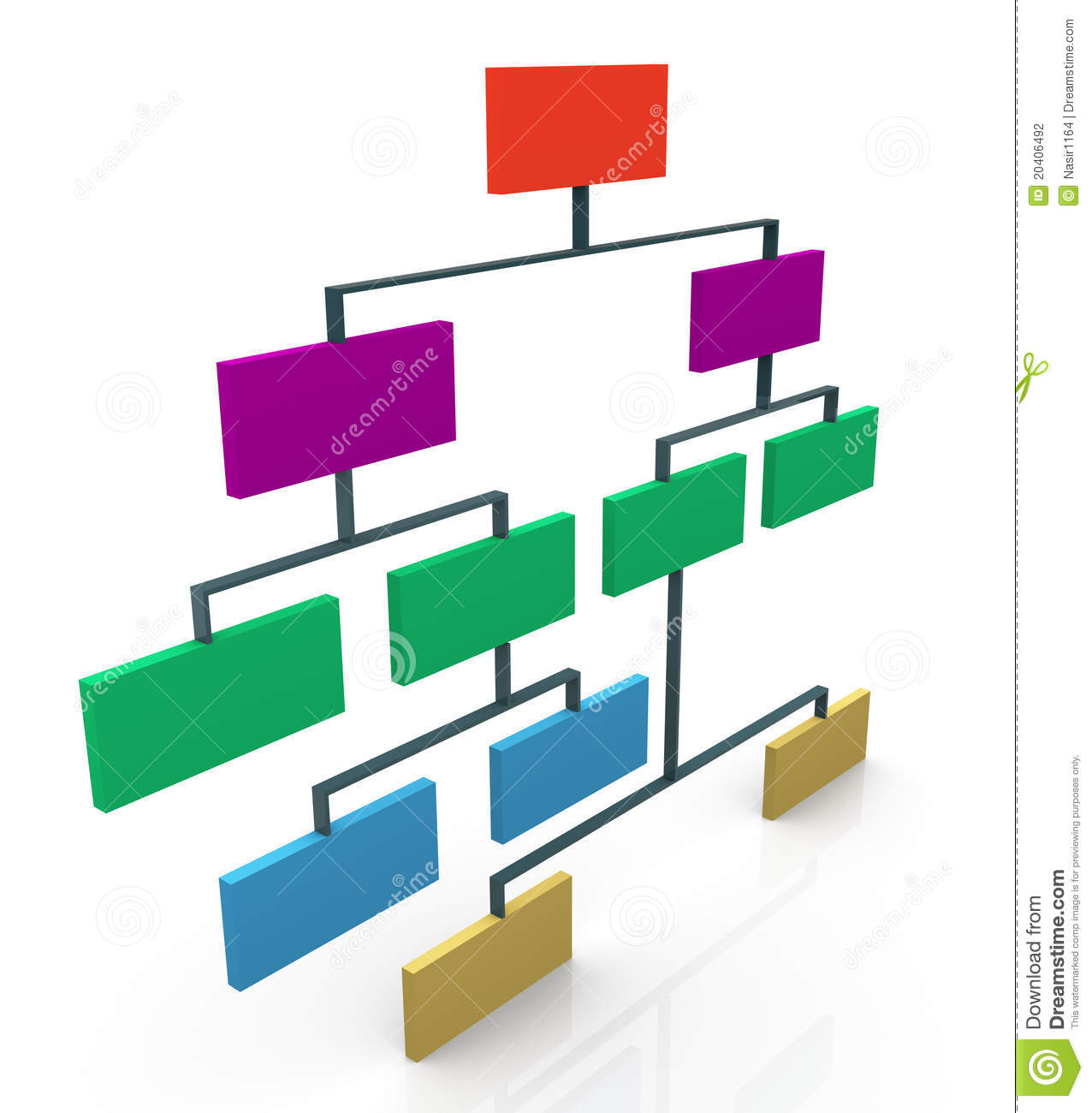 3d Organizational Chart Stock Photography - Image: 20406492