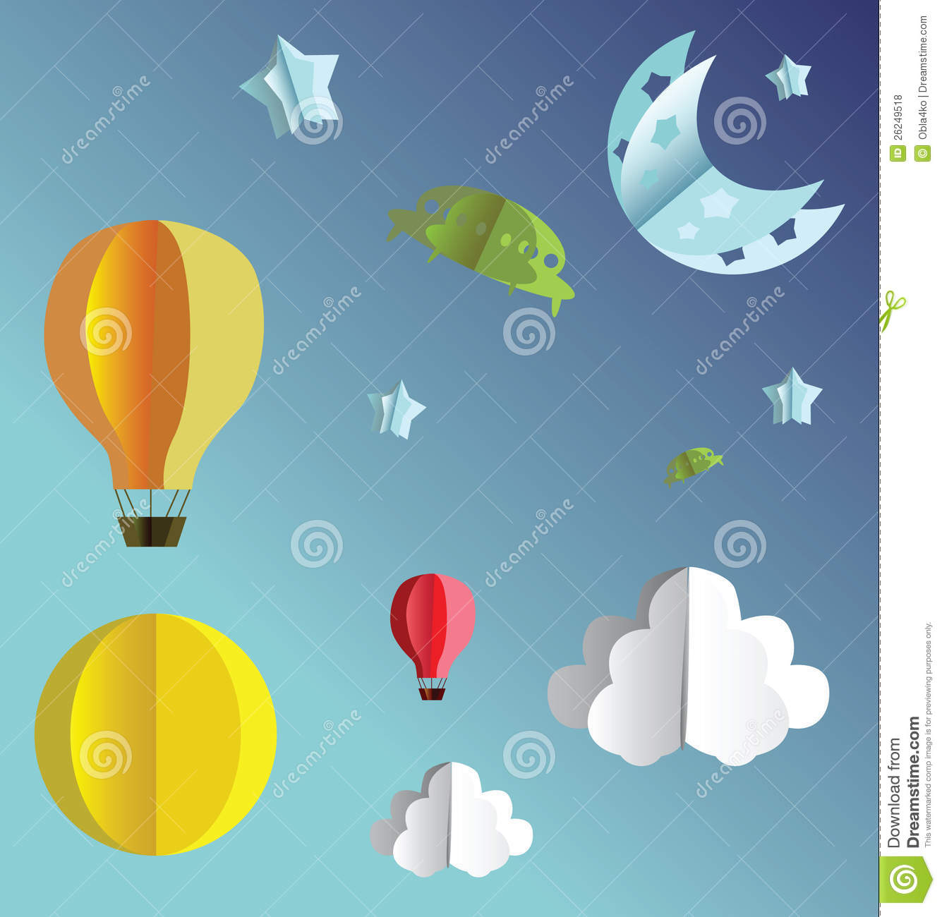 3d Paper Flying Objects Royalty Free Stock Photos - Image ... - photo#25