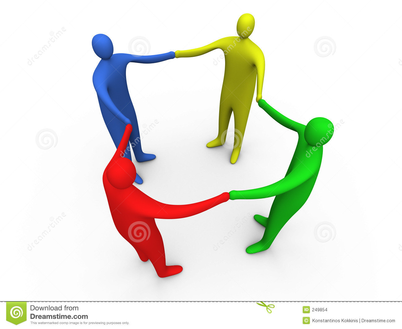 3d People Holding Hands #1 Stock Images - Image: 249854