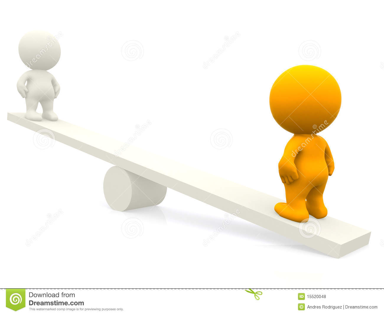 3d People On Seesaw Royalty Free Stock Photos - Image: 15520048