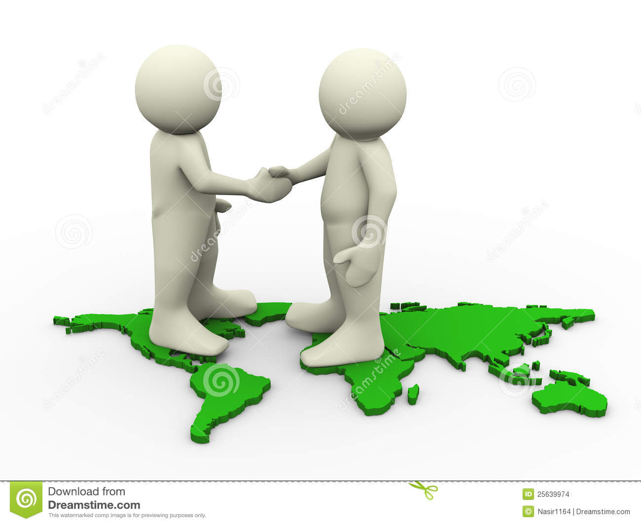 3d people shaking hands