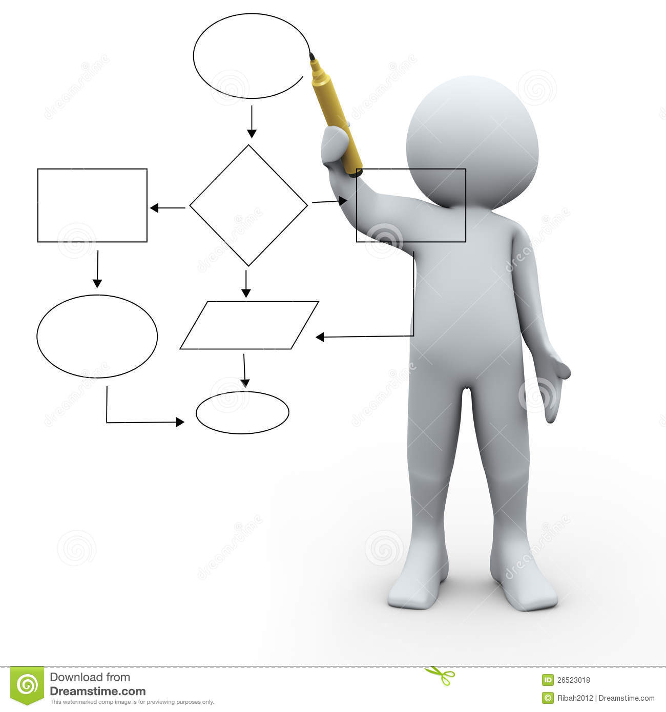 Royalty Free Stock Photos 3d Person Flow Chart Image26523018