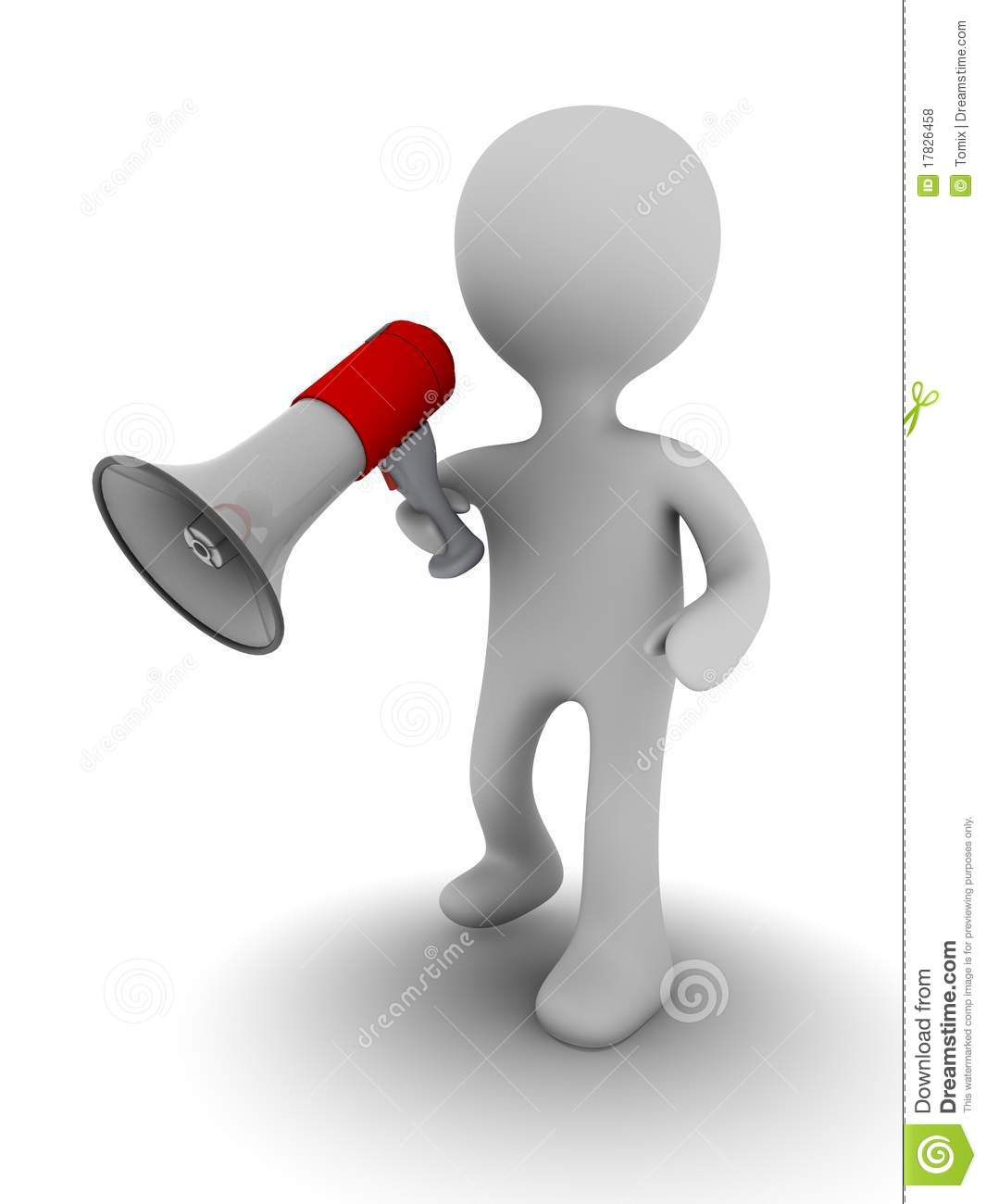 3d person with megaphone royalty free stock photos