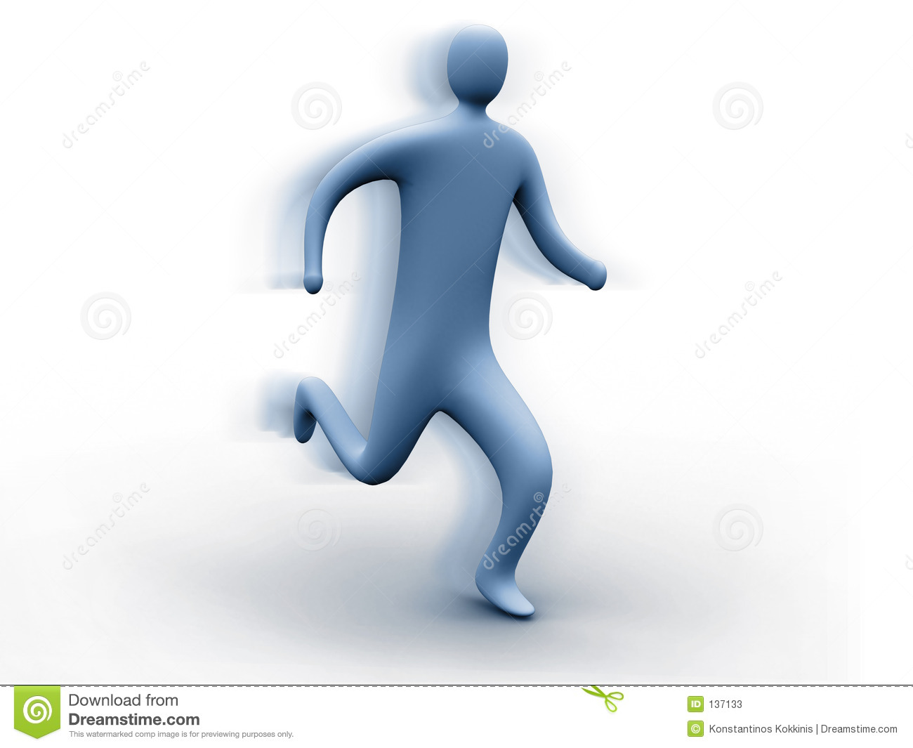3d Person Running Stock Photos - Image: 137133