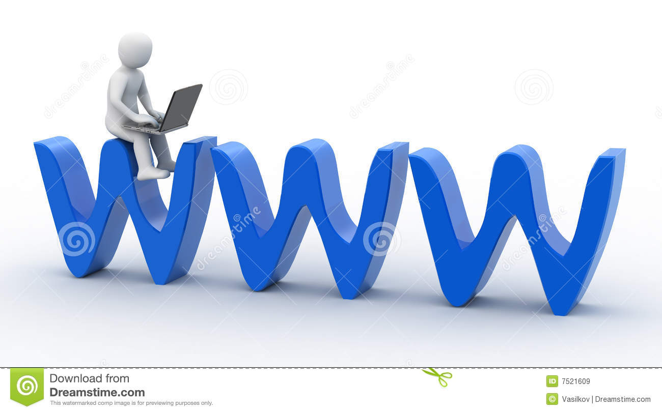 3d person and symbol internet stock illustration illustration 3d person and symbol internet biocorpaavc