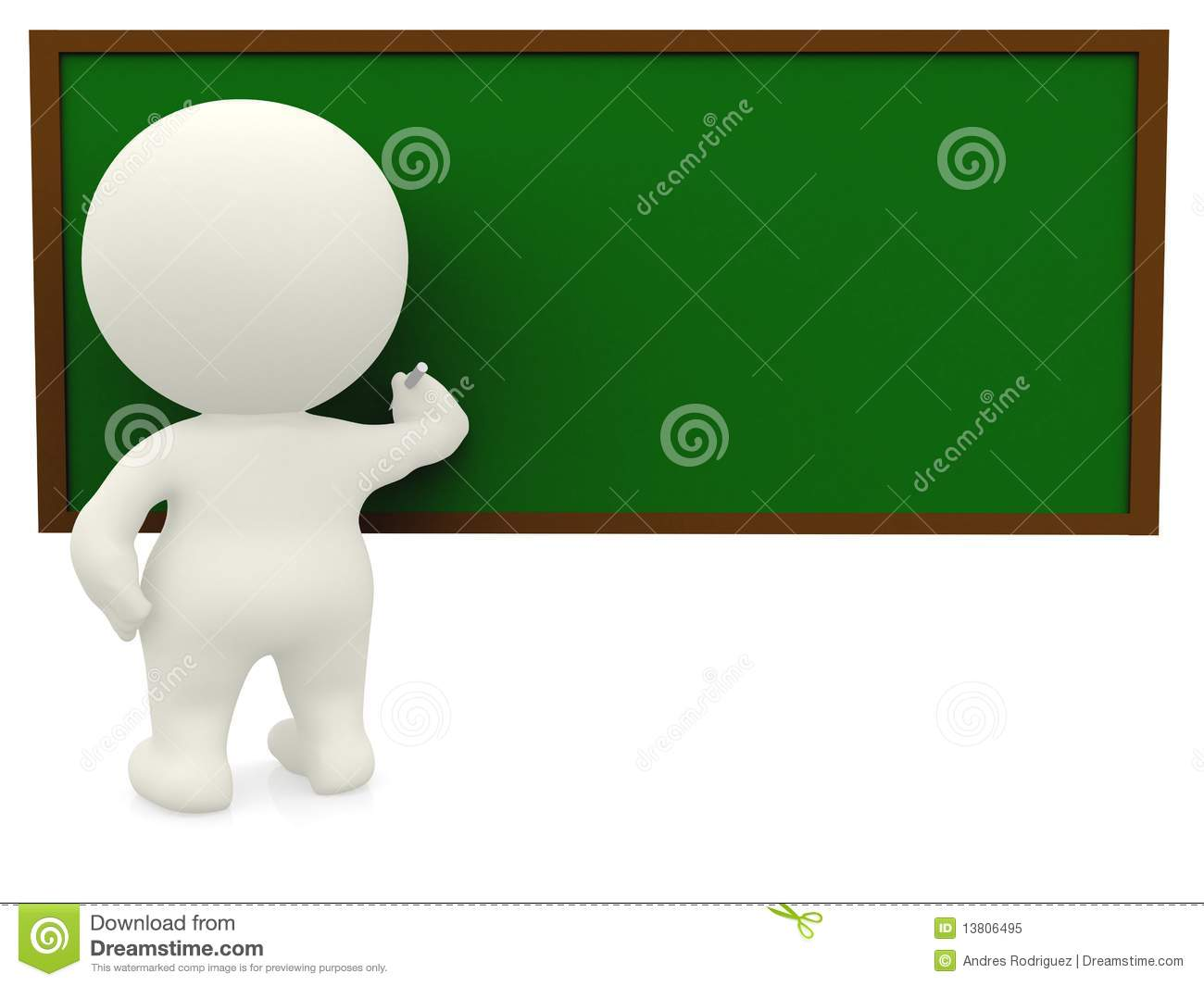 3d person writing on the board stock illustration