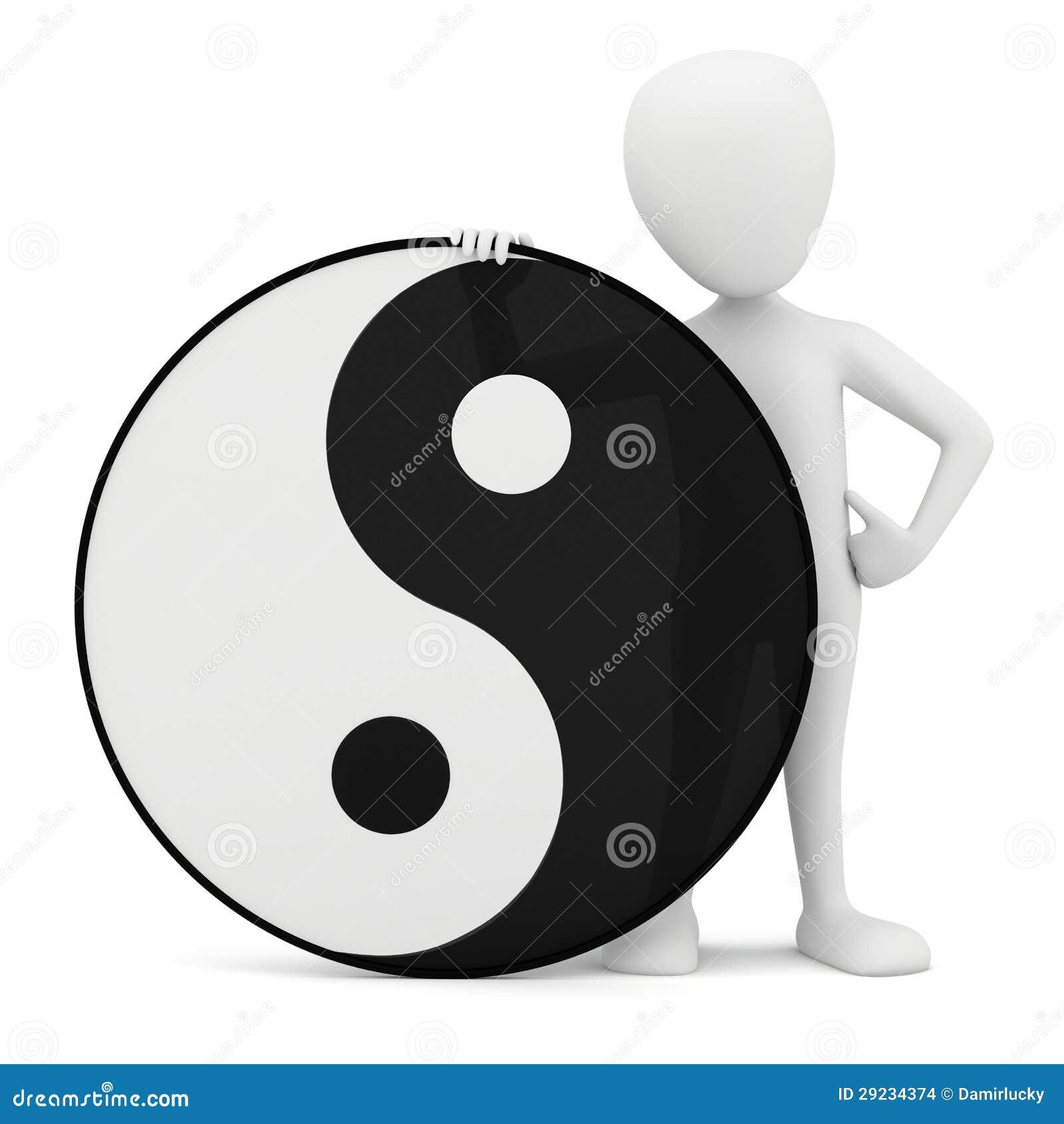 Download 3d Pessoa Pequena - Yin Yang. Ilustração Stock - Ilustração de chinês, alma: 29234374