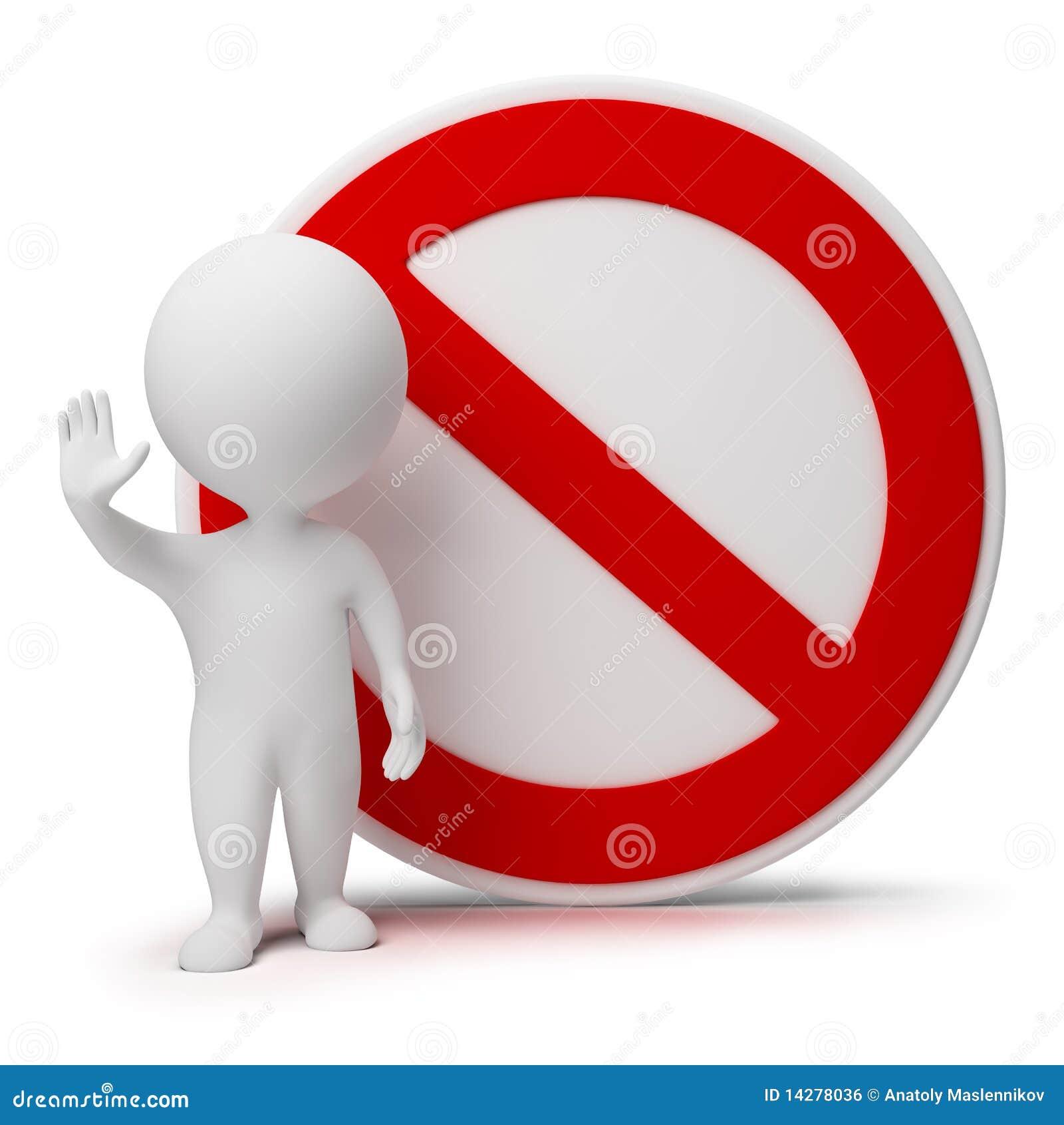 3d piccola gente - segno di interdizione