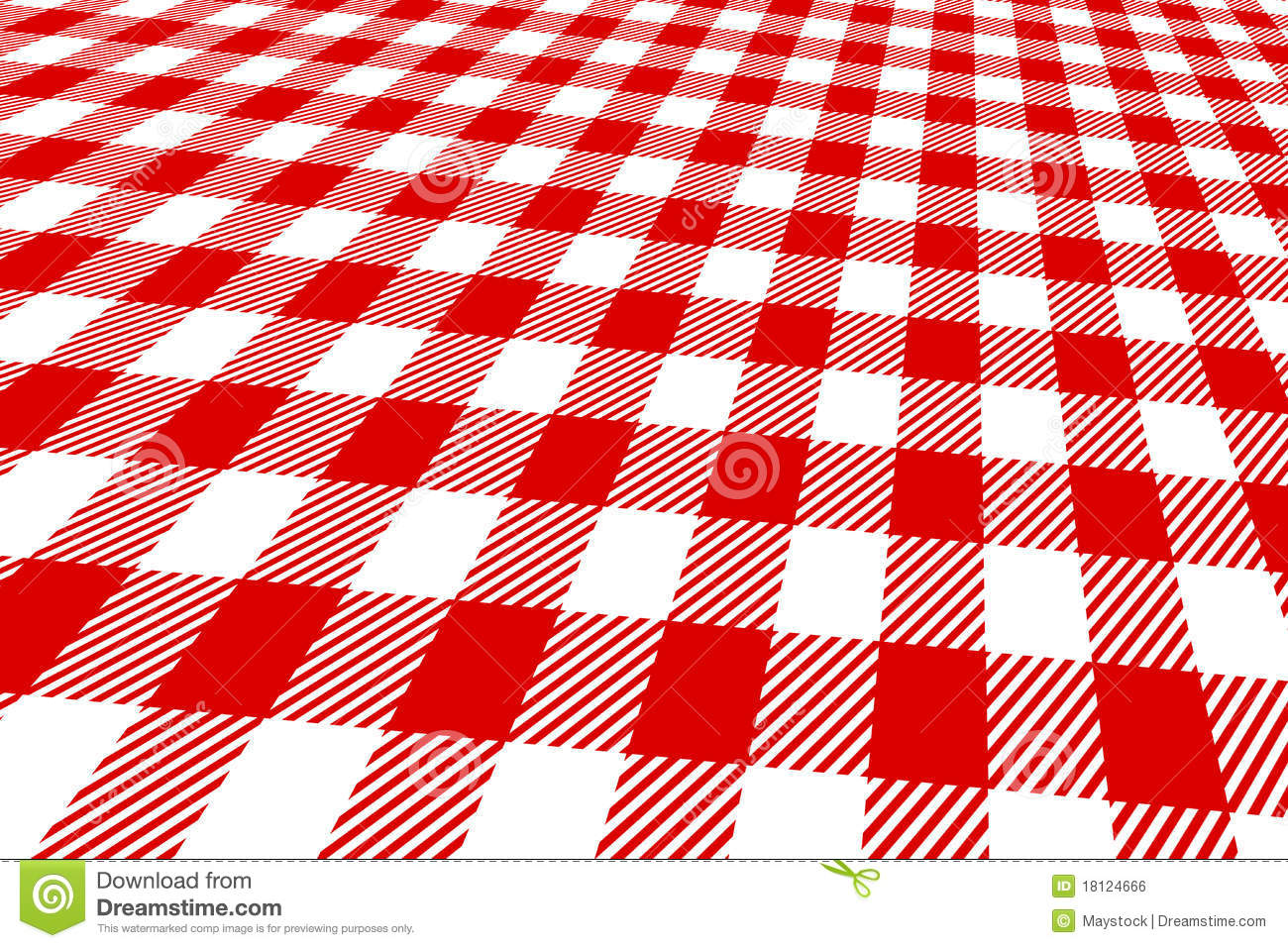 3d Picnic Tablecloth Red And White Royalty Free Stock Image - Image: 18124666