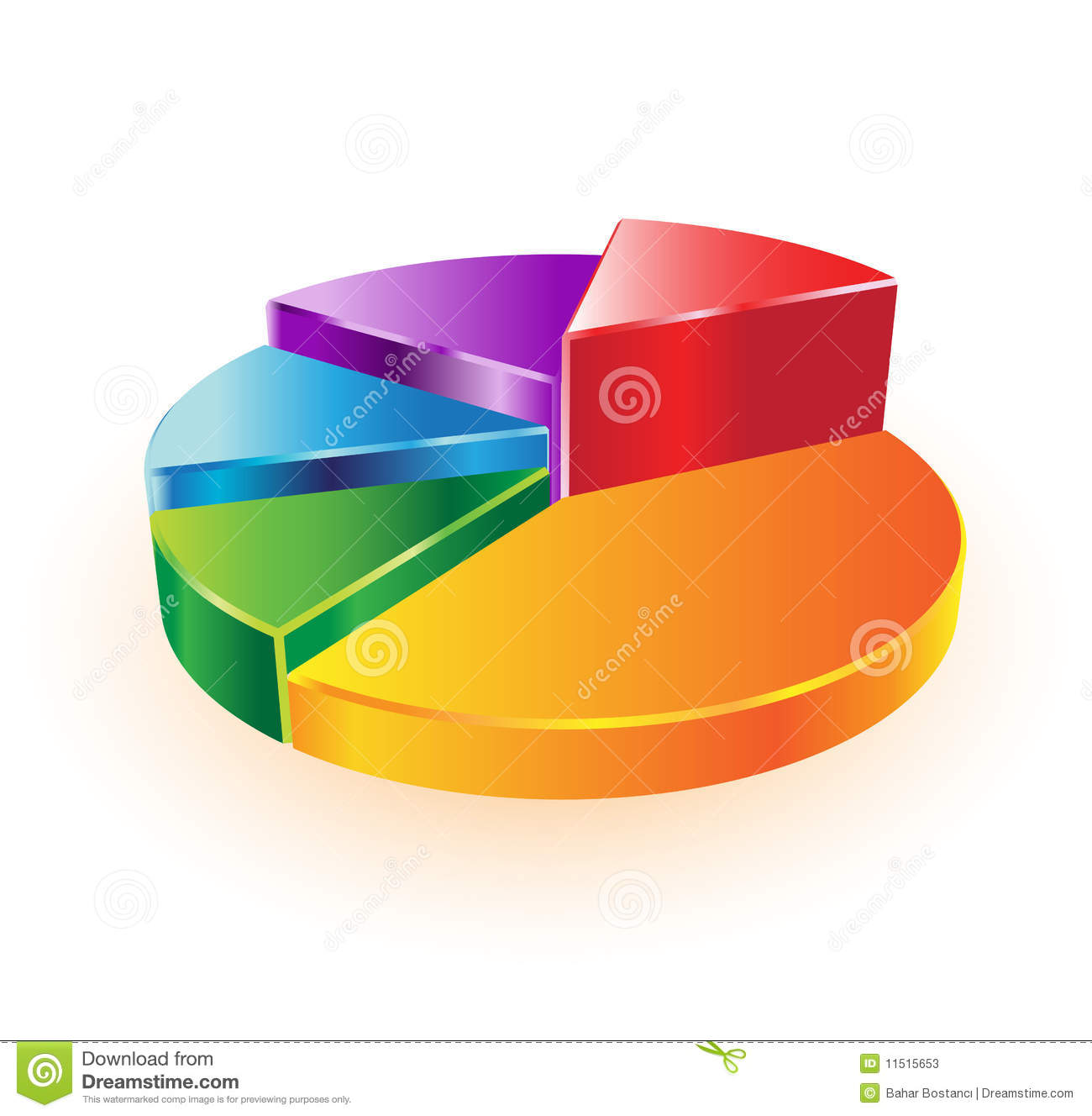 3D Pie Chart Stock Photos - Image: 11515653