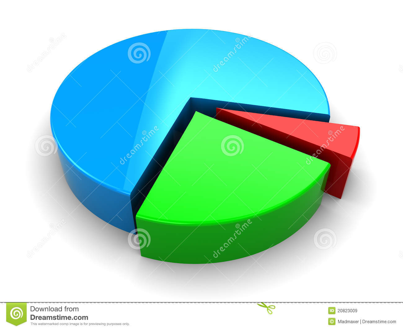 d pie diagram royalty free stock images   image    d pie diagram
