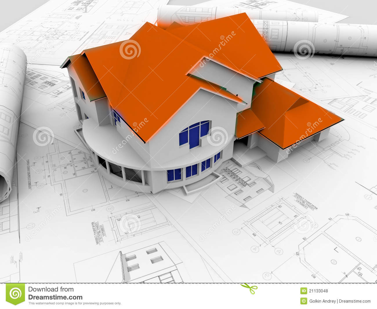 3d plan drawing stock illustration illustration of for 3d plan drawing