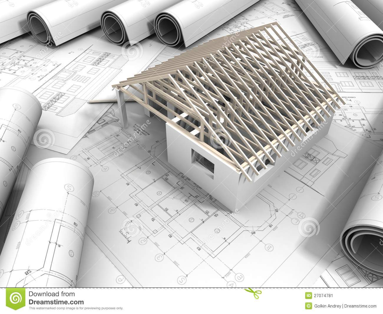 3d plan drawing stock image image 27074781 for 3d plan drawing