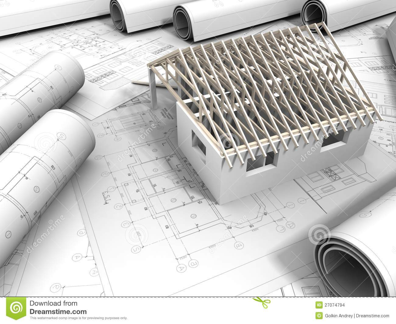 3d plan drawing stock images image 27074794
