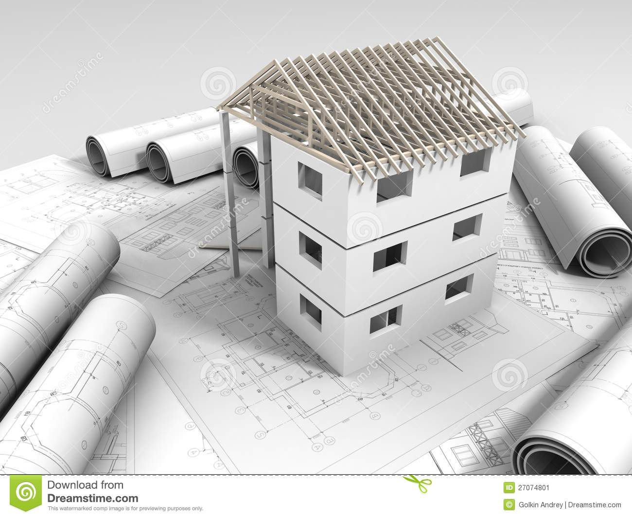 3d plan drawing stock image image 27074801 for 3d plan drawing