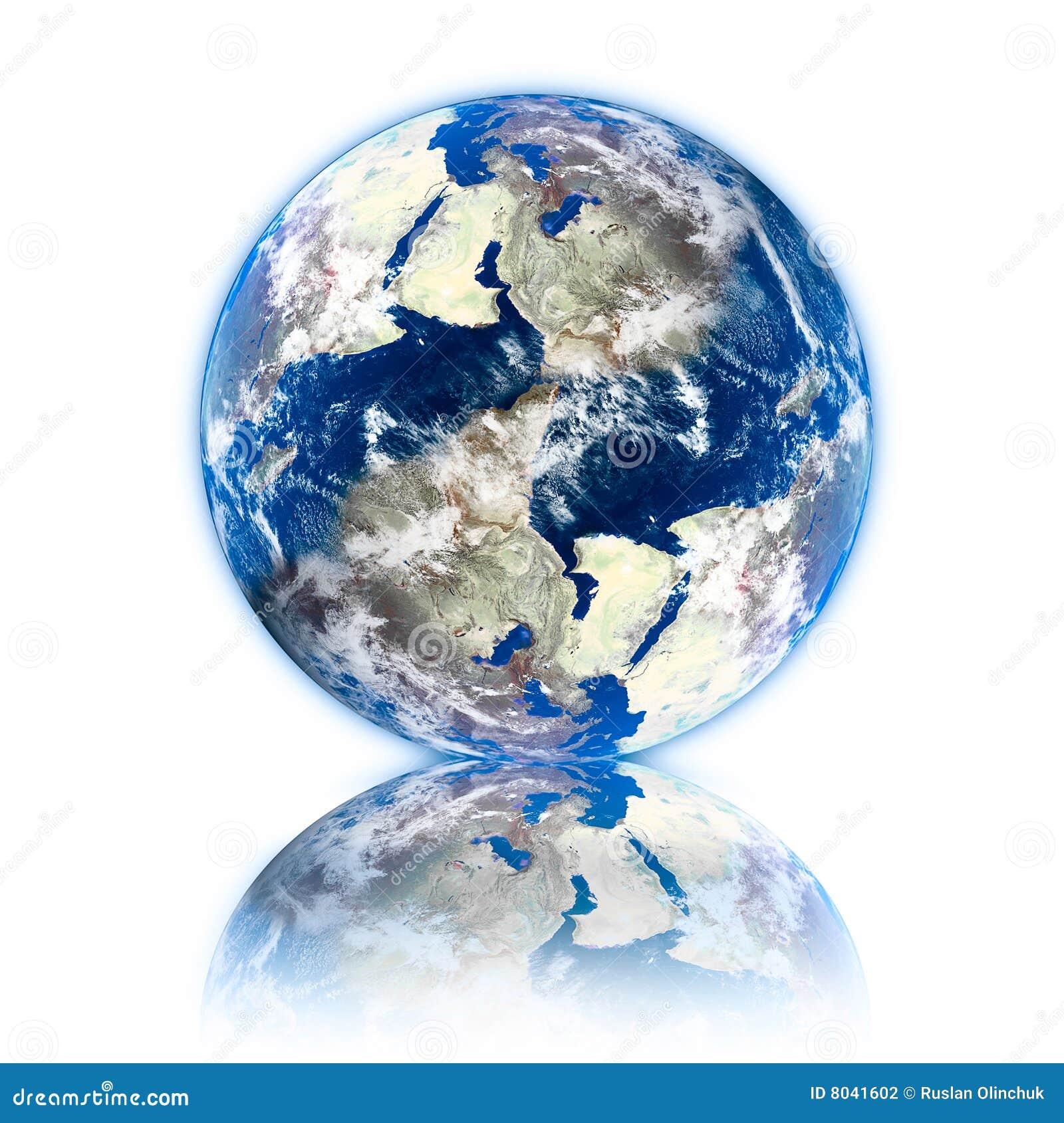 3d planeet van de Aarde