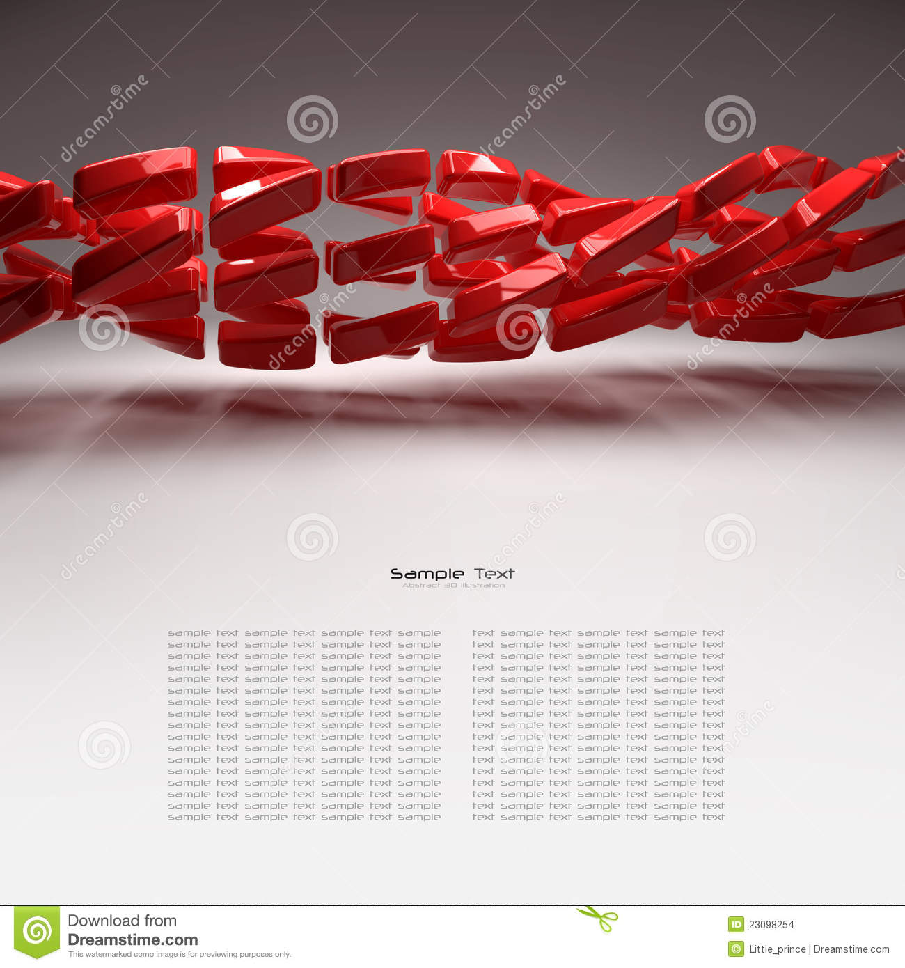 3d plastic elements abstract background