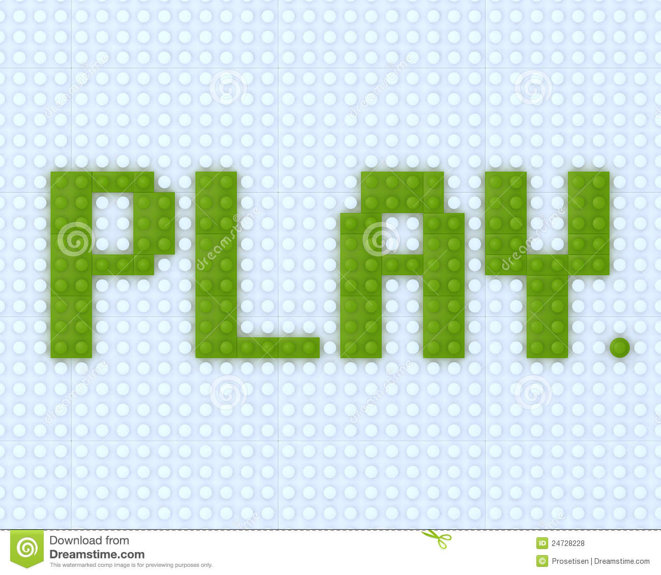 3D Play Word Lego Royalty Free Stock Photos - Image: 24728228
