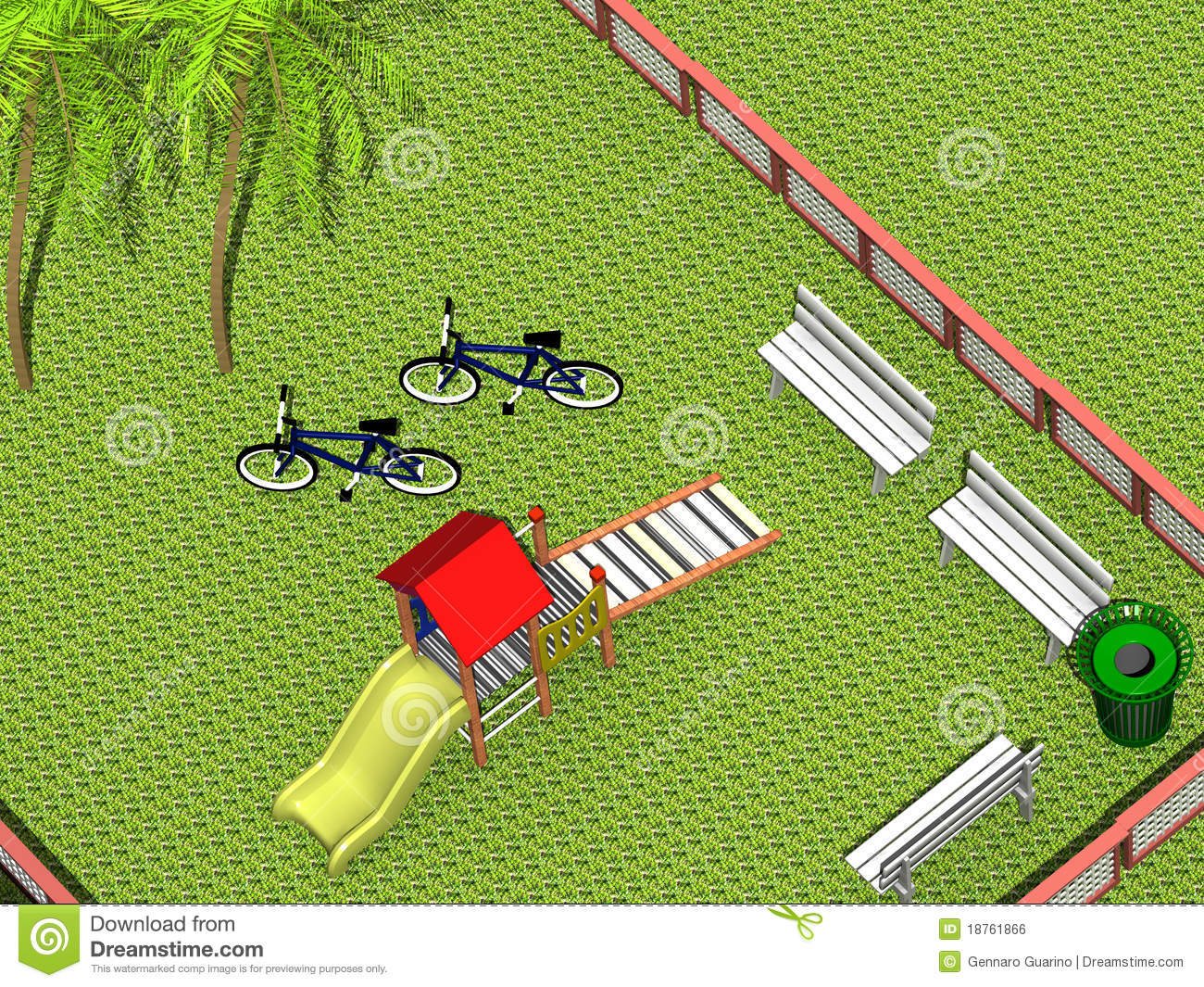 3d Playground Royalty Free Stock Image Image 18761866