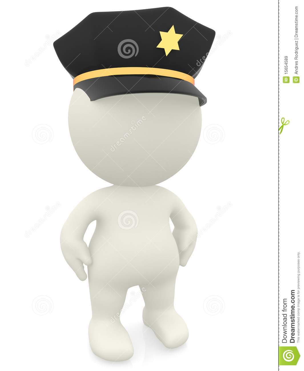 3D Police Officer Royalty Free Stock Images - Image: 15654589