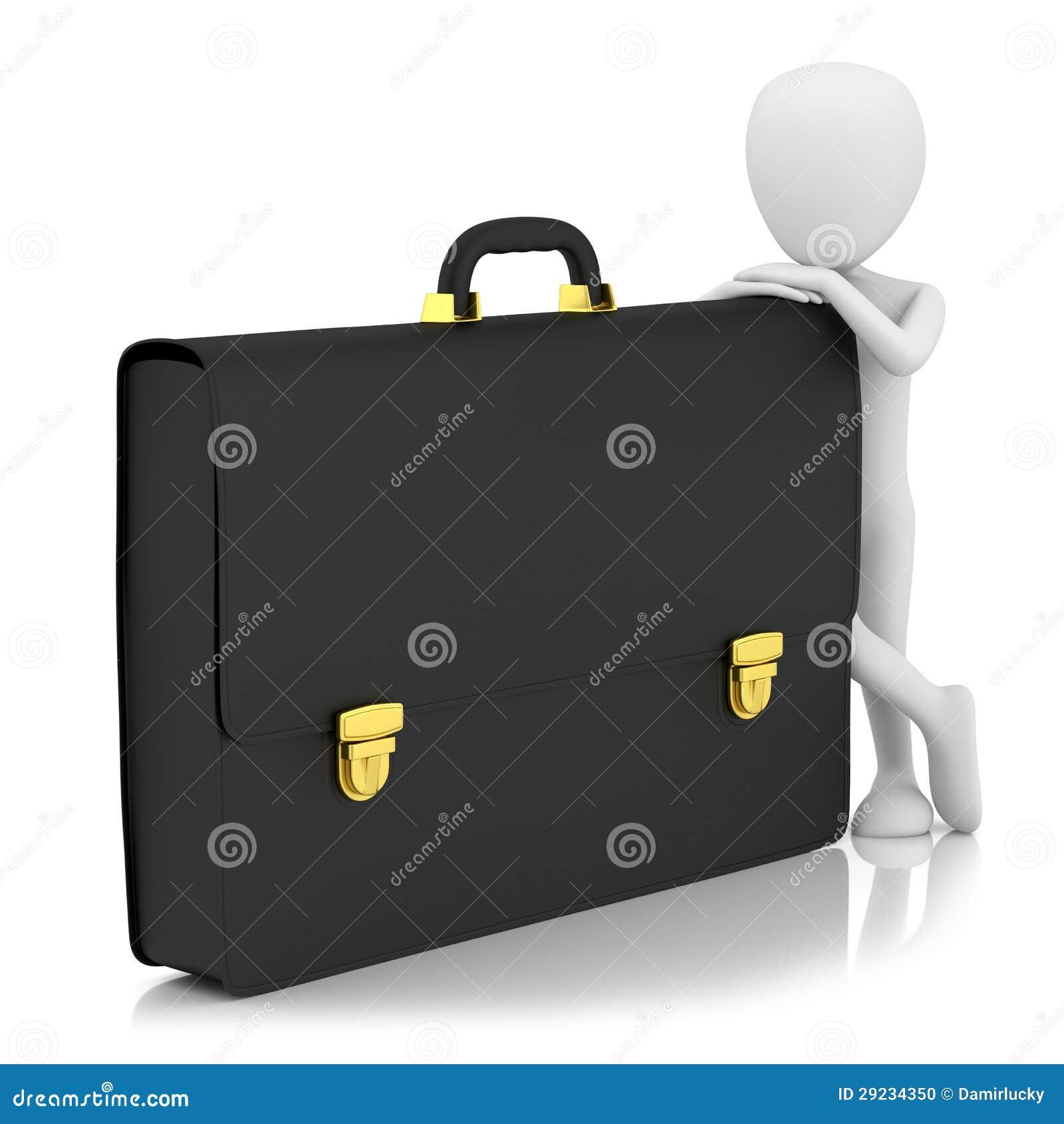 Download 3d Povos Pequenos - Carteira. Ilustração Stock - Ilustração de suitcase, reflexão: 29234350