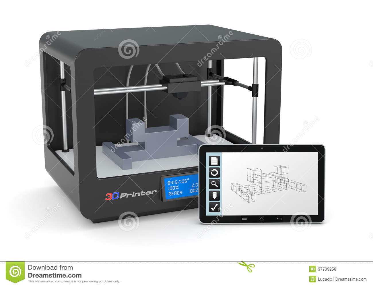 3d printing royalty free stock photos image 37703258 Free cad software for 3d printing
