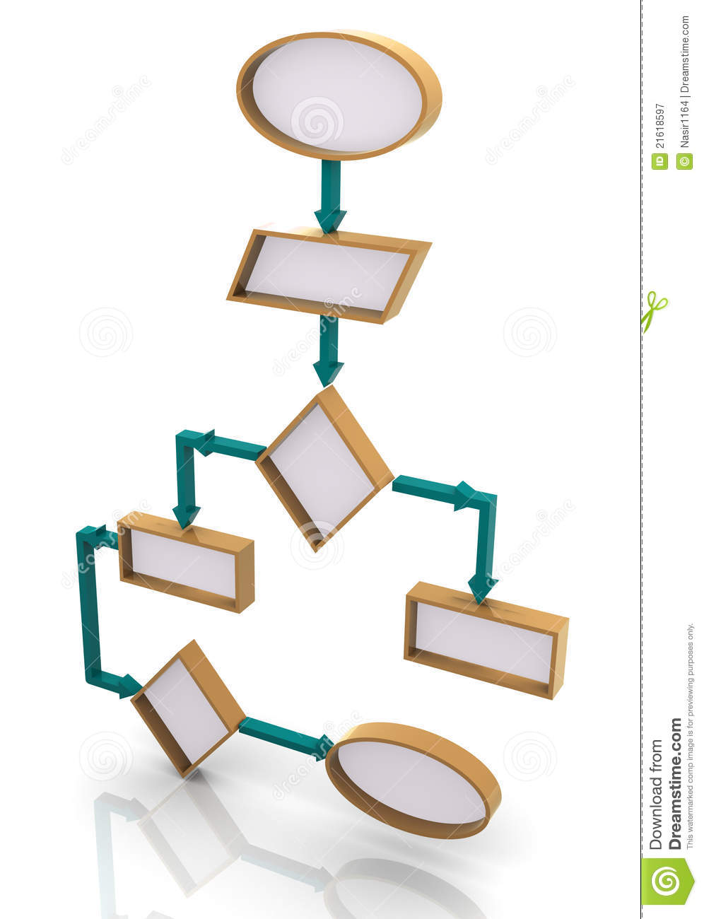 3d program flow chart royalty free stock photography image 21618597 for 3d flow chart